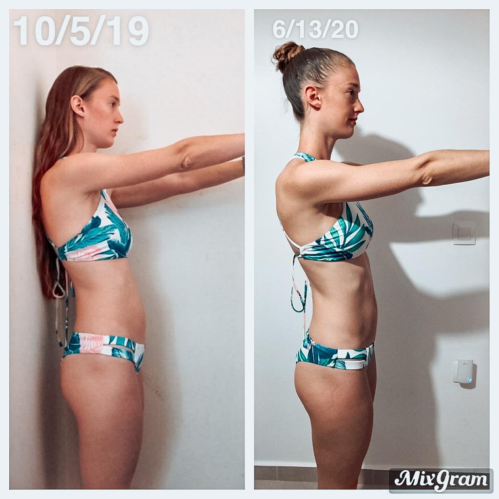 Fitness journey progress